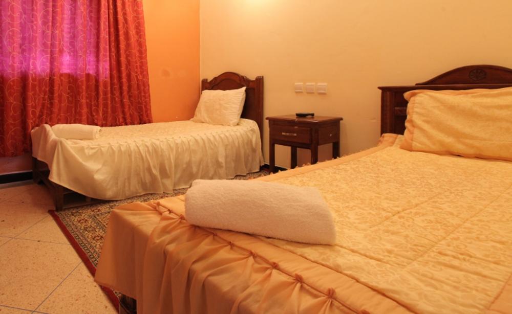 Chambre Standard Triple Vue Lagune Hôtel Palais Touareg hébergement Dakhla